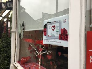 Valentines Window Display