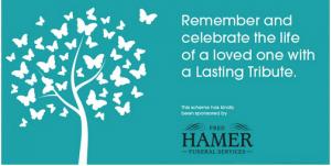 Rossendale Hospice, Lasting Tribute sponsored by Fred Hamer
