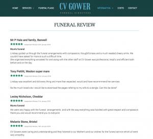 C V Gower's Independent Reviews